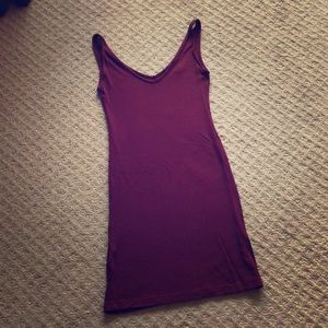 Forever 21 Worn Once! Burgundy ribbed stretchy 👗